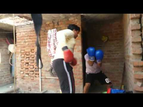 My boxing practice match with my student