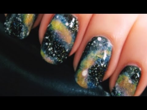 Space nail art tutorial cutepolish disney style youtube for Space art tutorial