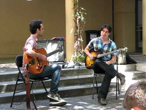 Julian Lage&Mike Moreno - Stanford Jazz Residency Workshop 2012