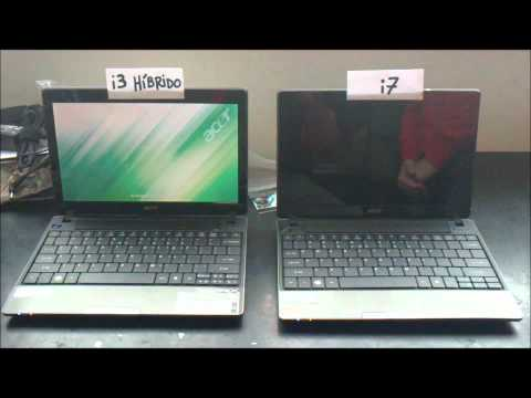 Netbook Acer 1830T Intel Core i3 HD Hibrido Momentus XT vs 1830T Intel i7