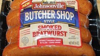 Johnsonville Butcher Shop Style: Smoked Bratwurst Food Review