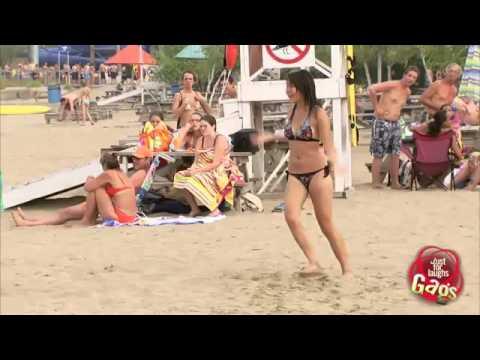الكاميرا الخفية   أخطر لعبة على الشاطئ