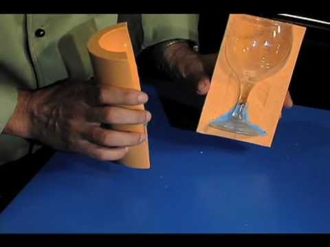 Sugar Glass Video: How To Make Sugar Martini. Champagne & Wine Glasses