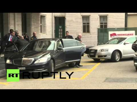 Switzerland: Syrian govt. delegation arrives for UN peace talks in Geneva