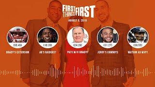 First Things First Audio Podcast (8.5.19)Cris Carter, Nick Wright, Jenna Wolfe | FIRST THINGS FIRST