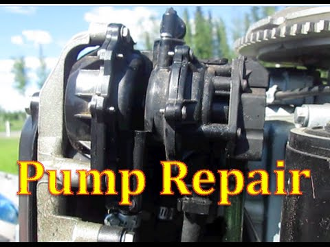 How to Repair Evinrude or Johnson VRO FUEL PUMP .... Replacing Diaphragm Removing outboard fuel pump