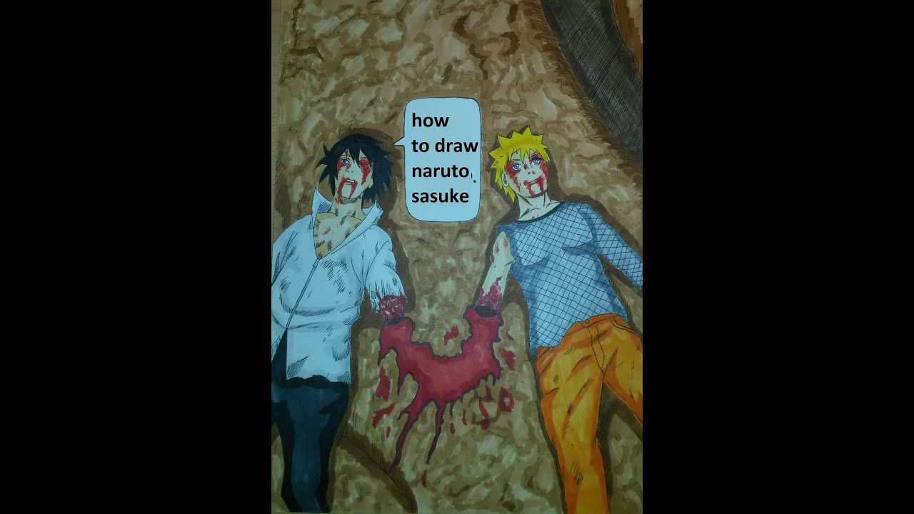 Cut Arms Drawing How to Draw Naruto And Sasuke