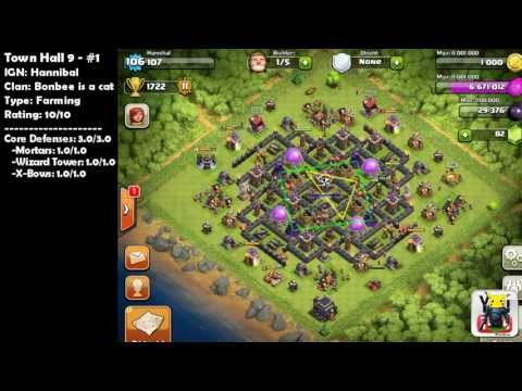 Clash of Clans [1000 Subscriber Bonus] Top 10 Base Designs Vol. 1