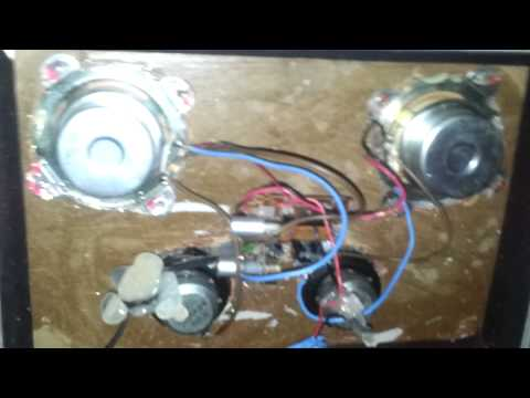 Home made portable speakers suitcase with battery