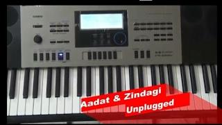 download lagu Aadat Ninja + Zindagi Akhil  Unplugged  Piano gratis