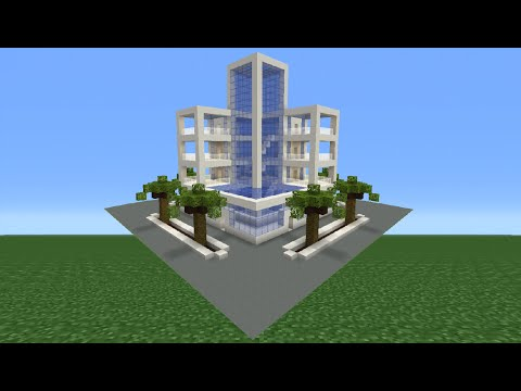 Minecraft Tutorial: How To Make A Modern Hotel