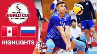 CANADA vs. RUSSIA - Highlights | Men's Volleyball World Cup 2019