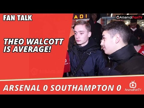 Theo Walcott Is Average!  | Arsenal 0 Southampton 0