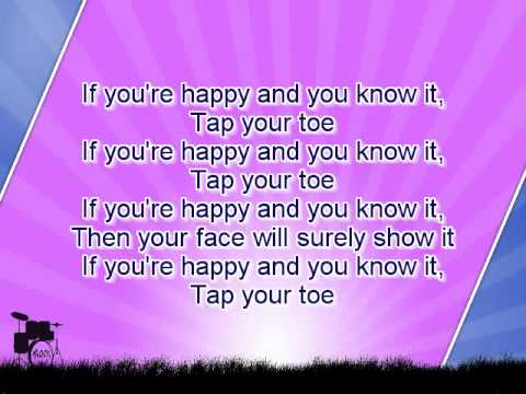 Karaoke for kids - If You Are Happy And You Know It - slow - key -3