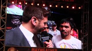 MANNY PACQUIAO POST WEIGH IN INTERVIEW WITH HBO'S MAX KELLERMAN / MAYWEATHER v PACQUIAO