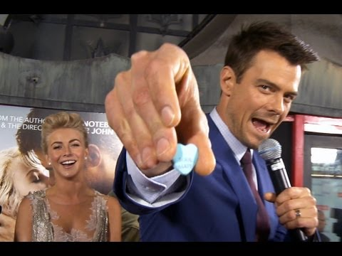 Julianne Hough & Josh Duhamel At Safe Haven Premiere | Interview | On Air with Ryan Seacrest