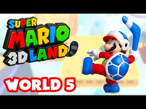 Super Mario 3D Land - World 5 (Nintendo 3DS Gameplay Walkthrough)