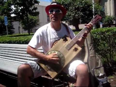 Elmore James Shake Your Money Maker cover Cigar Box Guitar Busking