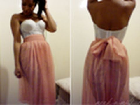 How to make a Pleated Chiffon Skirt! (DIY) :D