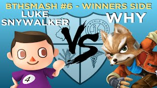 BTHSmash #6 - Luke Snywalker (Villager, Corrin) vs Why (Villager, Fox) - Winners Round 2 - Smash 4