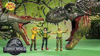 New 2019 Jurassic World Fallen Kingdom Dinosaur Toys / Gigantic Brachiosaurus BITE N FIGHT T Rex