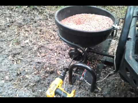 Home Made Food Plot Broadcast Spreader Youtube