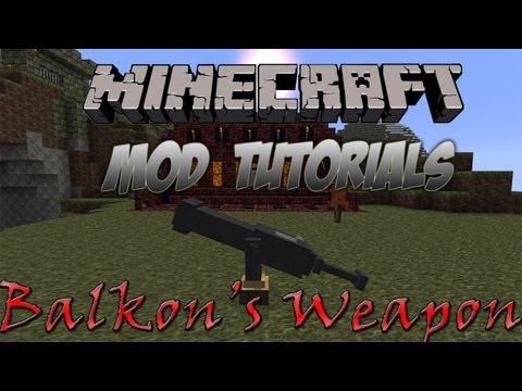 Minecraft 1.4.7 - How To Install Balkon's Weapon Mod