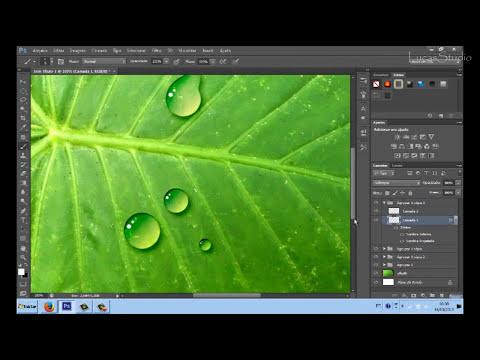 Como criar gotas de agua com Photoshop  cs6