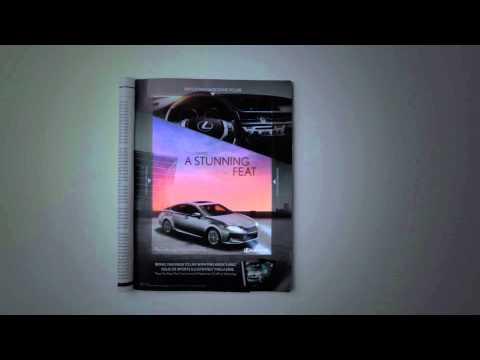 Lexus ES print ad in motion - new CinePrint ad technology