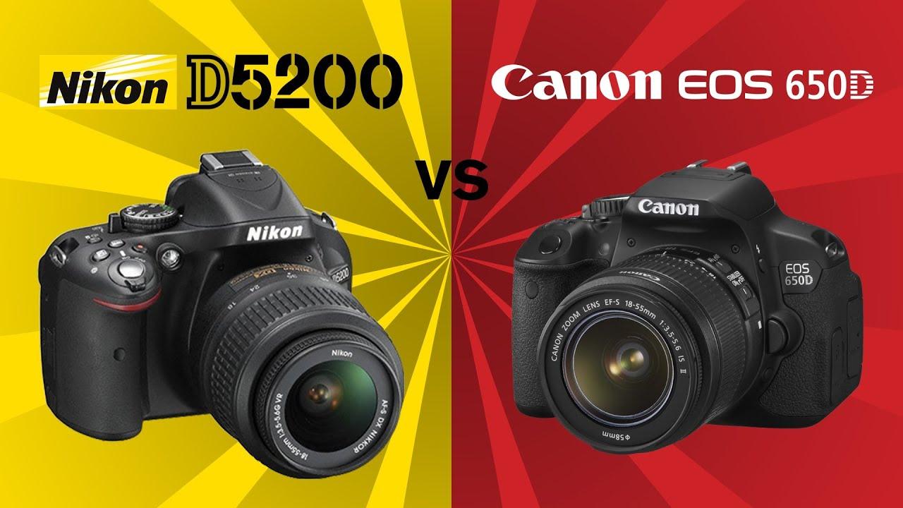 Nikon d3200 vs canon 650d photos