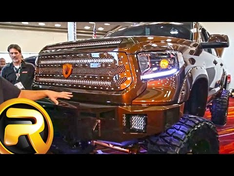 Custom 2015 Toyota Tundra Truck with Bully Dog Chip and MBRP Exhaust SEMA 2015