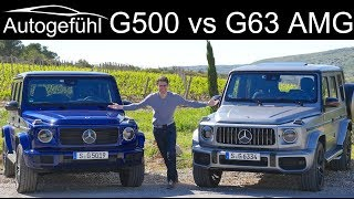 Mercedes G-Class G550 (500) vs G63 AMG FULL REVIEW comparison test GClass G-Klasse 2019 - Autogefühl