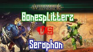 (1000pts) Bonesplitterz Vs Seraphon Age of Sigmar Battle Report! Pitched battle!