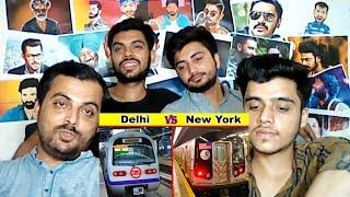 Pakistani Reaction on   Delhi Metro vs New York City Subway Comparison