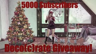 5000 YouTube Subscribers Giveaway - Deco(c)rate in Second Life