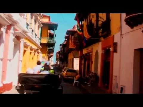 A Trip through the Streets of Cartagena, Colombia South America