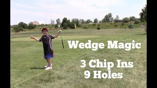 US Kids Golf Wedge Magic: 4yr old holes out 3x in 9 holes