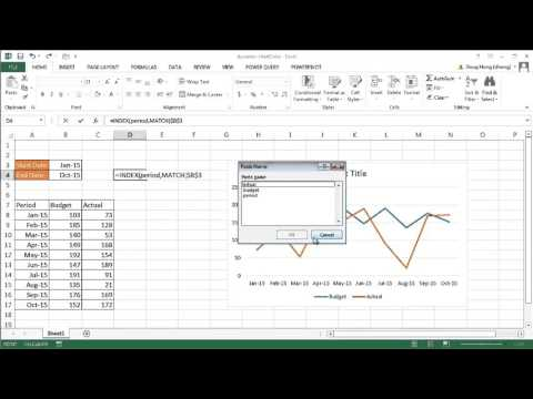 Create a Dynamic Chart with Named Ranges, INDEX and MATCH | Excel 2013