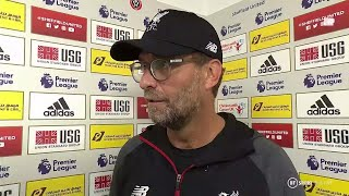 """When you win they're not all beauties!"" Klopp on Sheffield victory."