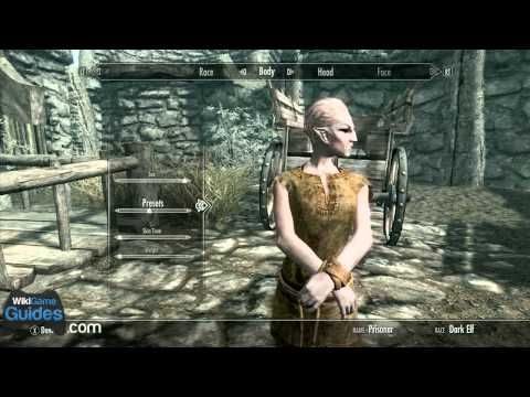 Skyrim character creation starting dark elf race overview