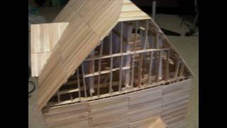Popsicle Stick House Slide Show