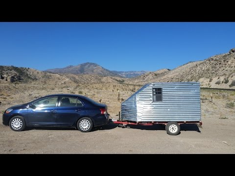 Way Cheaper than a Conversion Van #vanlife Home made Teardrop camper trailer under $500