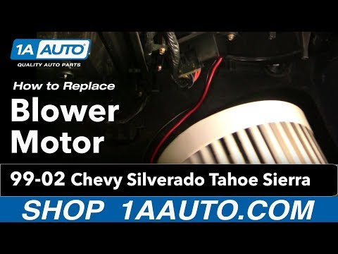How To Install Replace Heater AC Blower Motor Chevy Silverado Tahoe Sierra 99-02