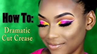 Dramatic Colorful Cut Crease Makeup Tutorial | PETITE-SUE DIVINITII
