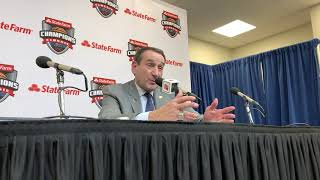 Full Coach K Duke vs Kansas Postgame Press Conference
