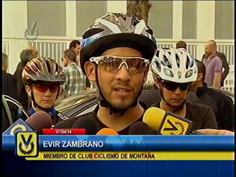 Este lunes se realizó el acto velatorio de los dos ciclistas asesinados el fin de semana en El Ávila