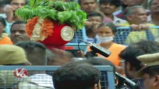 Mahankali Bonalu : Jogini Shyamala Entry To Offers Bonam To Ujjaini Mahankali Goddess