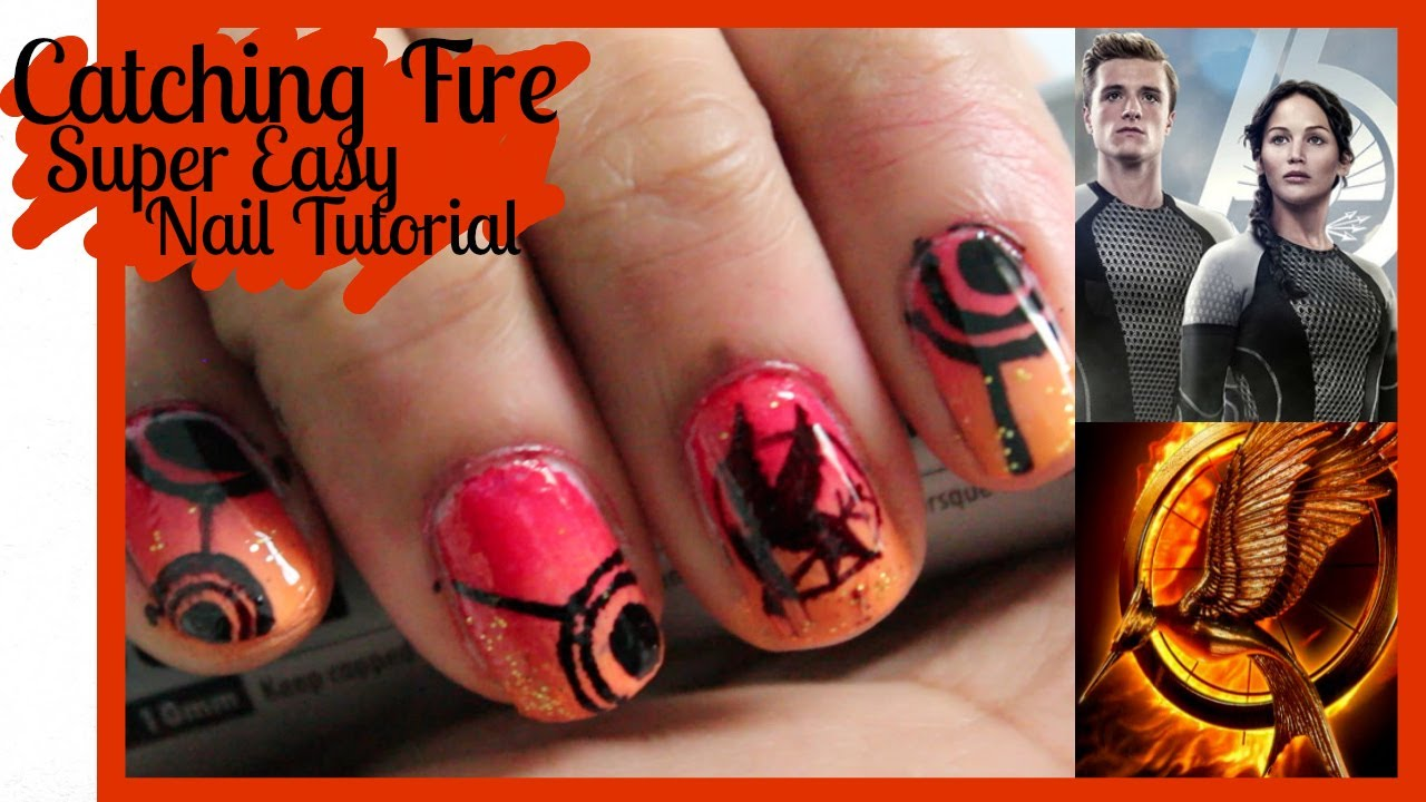 CATCHING FIRE Nail Tutorial