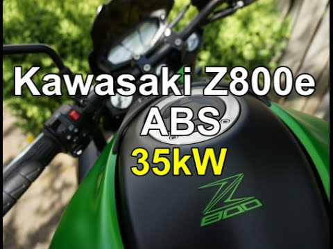 Kawasaki Z800e ABS 35kW walk around(ish) and ride
