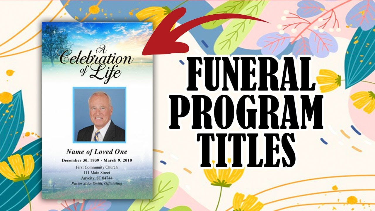 Funeral Service Template Microsoft Word Free Editable Program